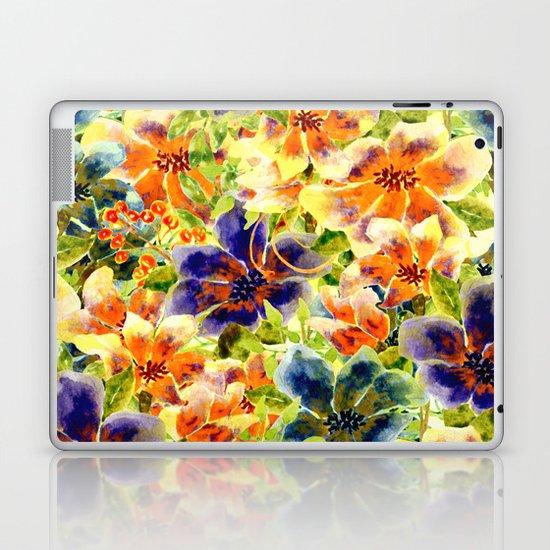 vivid floral Laptop & iPad Skin