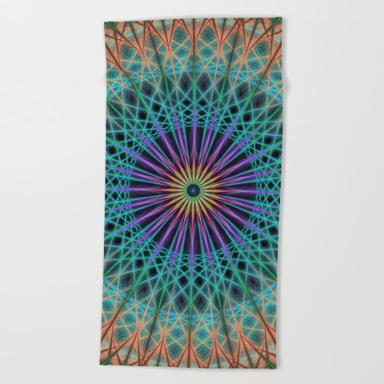 Round fantasy structure Beach Towel
