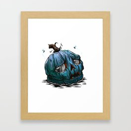 Sad Pumpkin Framed Art Print