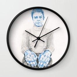 Blue Bowie Wall Clock