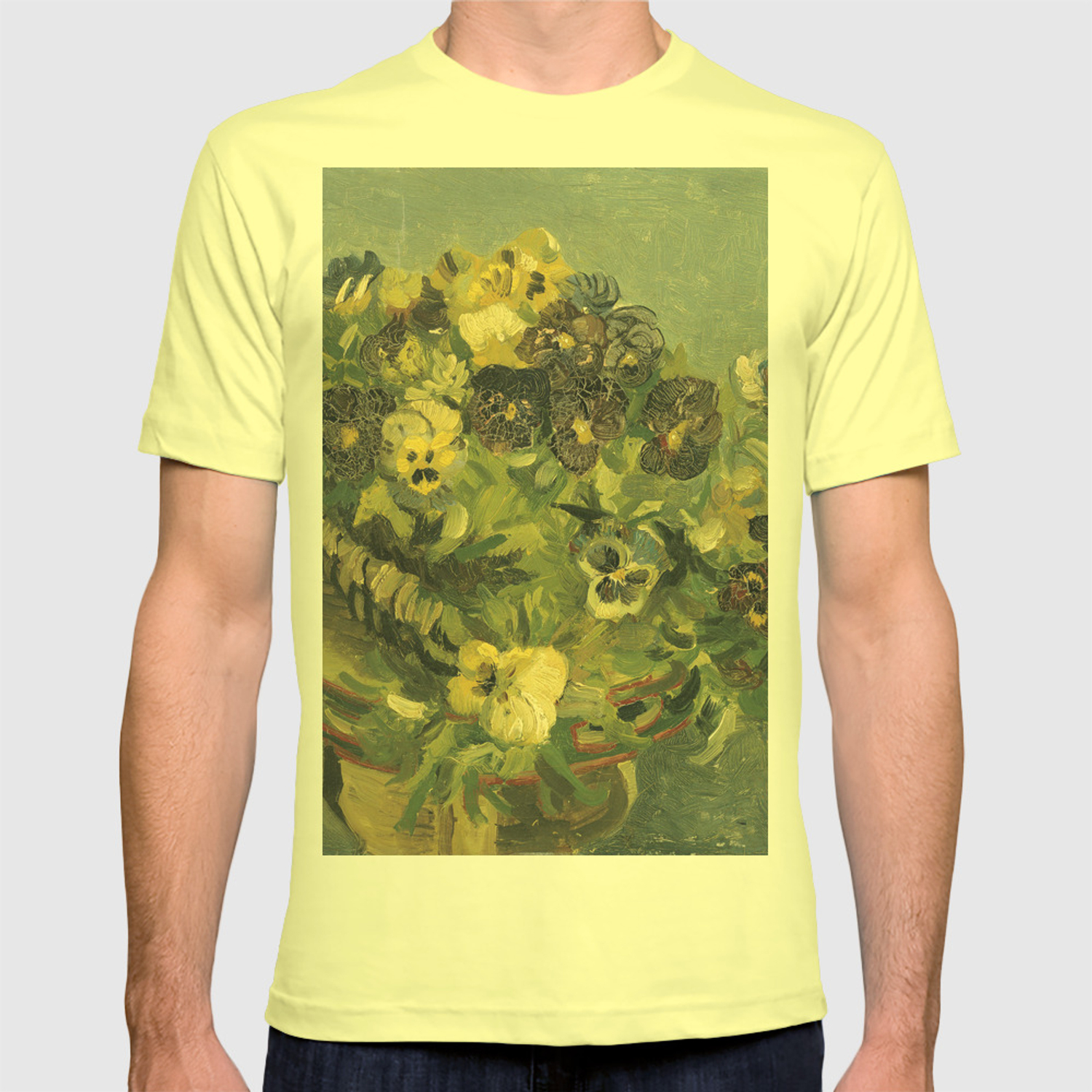 Basket of Pansies by Vincent van Gogh T shirt