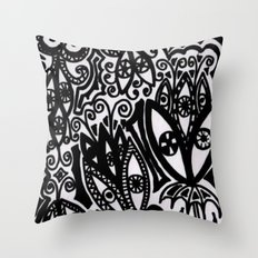 Flowers in the Rain Forest. Throw Pillow