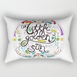 Little Golden Sun Rectangular Pillow