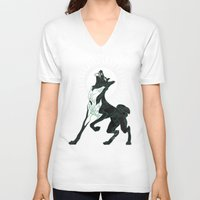 saga V-neck T-shirts featuring Saga of Lord Emil by CanisAlbus