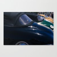 porsche Canvas Prints featuring Porsche by Sébastien BOUVIER