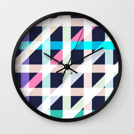 Slanted Lines Wall Clock