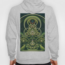 Time Shell IV. Green Abstract Geometry Hoody