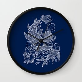 The Koi Fishes Wall Clock