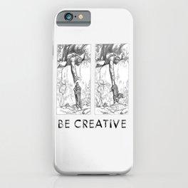 BE CREATIVE - Funny Dachshund Dog Illustration iPhone Case
