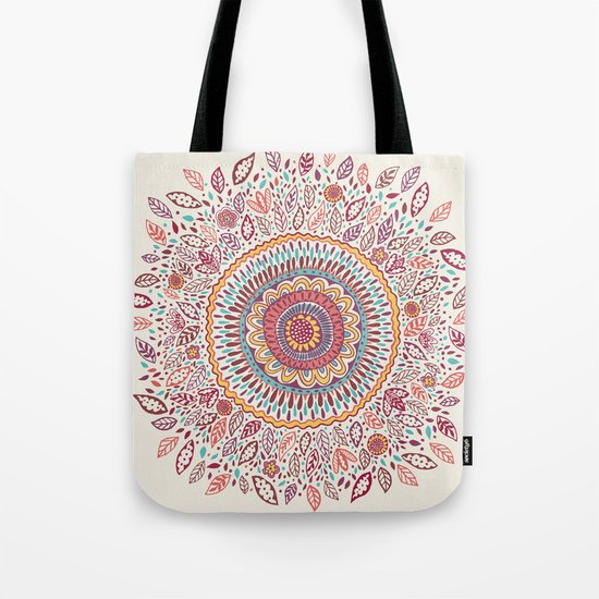 Sunflower Mandala Tote Bag