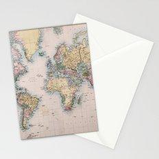 World Map 1860 Stationery Cards