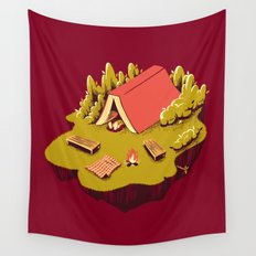 The Best Vacation Reading Book Camping Wall Tapestry