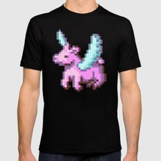 kid pix pegasus MEDIUM Black Mens Fitted Tee