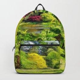 A beautiful lake. (Painting) Backpack