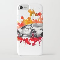 lamborghini iPhone & iPod Cases featuring Lamborghini Huracan by Claeys Jelle Automotive Artwork