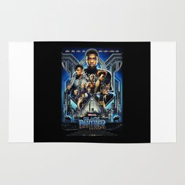 Black Panther movie Poster Rug