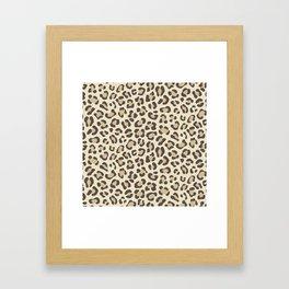 Leopard - Neutral Colors Framed Art Print