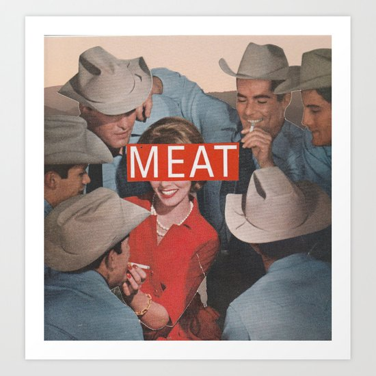 Meat Art Print