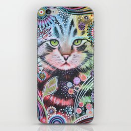 Abstract Cat Art - Penny iPhone Skin