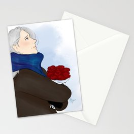 victor with roses - yuri on ice Stationery Cards