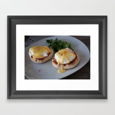 Traditional Eggs Benedict Framed Art Print