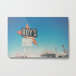 Roys Motel & Cafe ... Metal Print