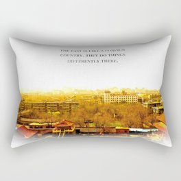 the past is like a foreign country. Rectangular Pillow