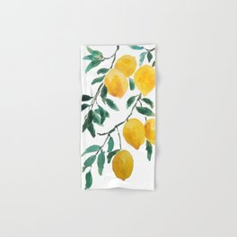 yellow lemon 2018 Hand & Bath Towel