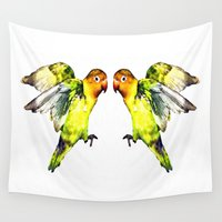 parrot Wall Tapestries featuring Parrot by cmphotography