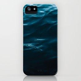 Minimalist blue water surface texture - oceanscape iPhone Case