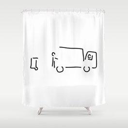 garbage disposal with garbage Shower Curtain