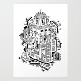 Impossible Buildings Art Print