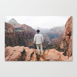 Overlooking Zion Canvas Print