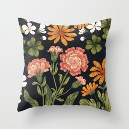 Wild Flowers ~ vol3. ~ dark Throw Pillow