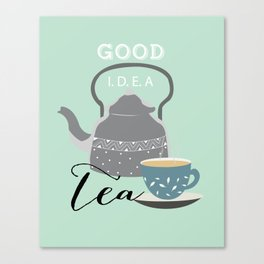 Tea love #society6 Canvas Print