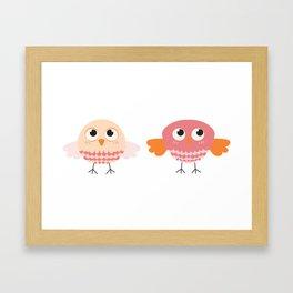 cute owls Framed Art Print