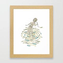 A strange world - Sara Framed Art Print