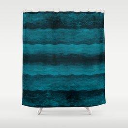 Vintage Blau Shower Curtain