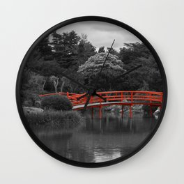 The Red Bridge (Higher Contrast) Wall Clock
