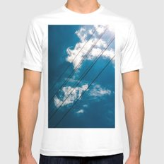 Lines in the sky White Mens Fitted Tee MEDIUM