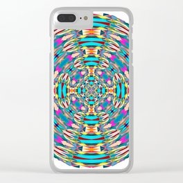 321 - Abstract Colourful Orb design Clear iPhone Case