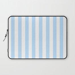 Classic Seersucker Stripes in Blue + White Laptop Sleeve