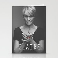 house of cards Stationery Cards featuring Claire Underwood / House of Cards by Earl of Grey