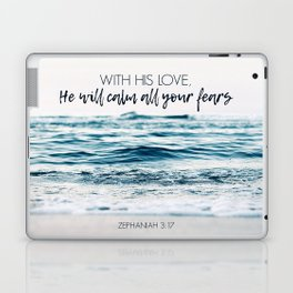 He Will Calm All Your Fears Laptop & iPad Skin