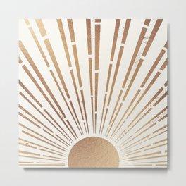 Sun Shines Inside you-Gold Edition Metal Print