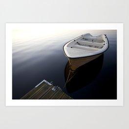 Boat on a sea Art Print