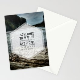 Waiting in vain Stationery Cards