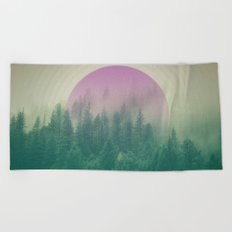 Orchid Vibes Forest Beach Towel