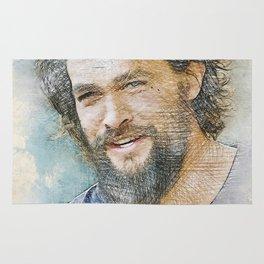Jason Momoa Portrait Rug