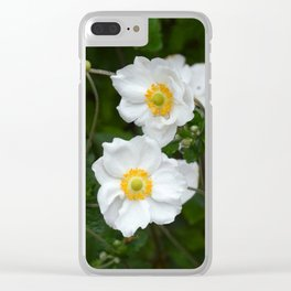 White poppies in spring Clear iPhone Case